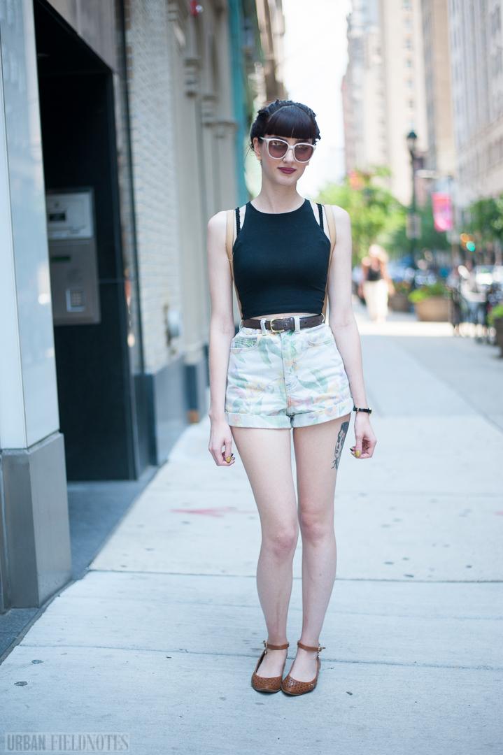 American Apparel short shorts tattoos