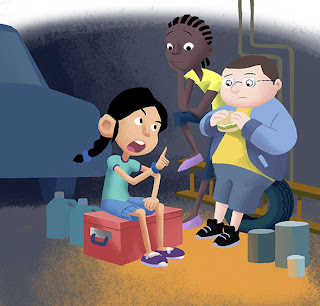 digital illustration for children's book series