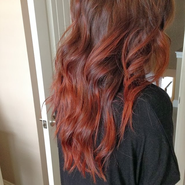 Cherry Cola Hair Color Ombre Fire and cherry cola,