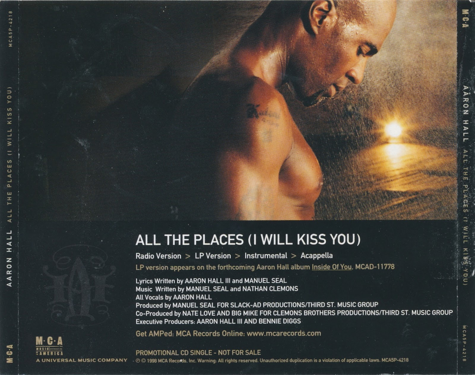 Aaron Hall - All The Places (I Will Kiss You) Lyrics ...
