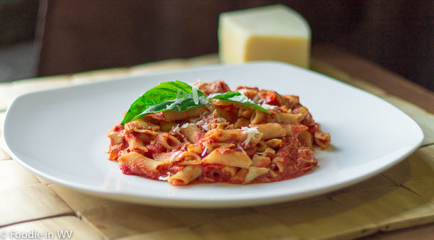 Click for recipe for Gluten Free Artichoke and Tomato Pasta