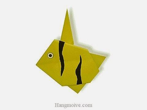 Cách gấp, xếp con cá thù lù bằng giấy origami - Video hướng dẫn xếp hình sinh vật dưới nước - How to fold a Moorish Idol