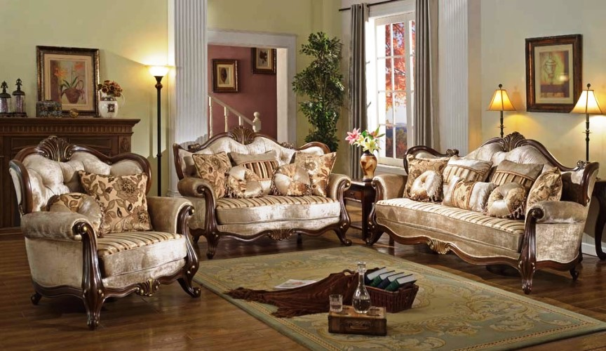 Cheap victorian style furniture classic luxury design Living room furniture styles and colors