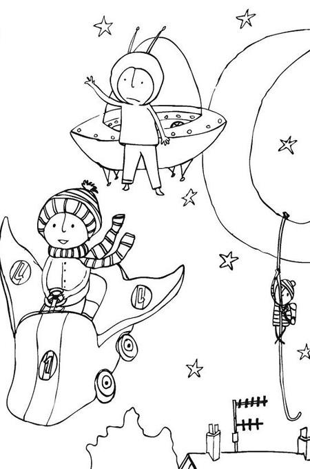 صورة خيال رسم اطفال للتلوين