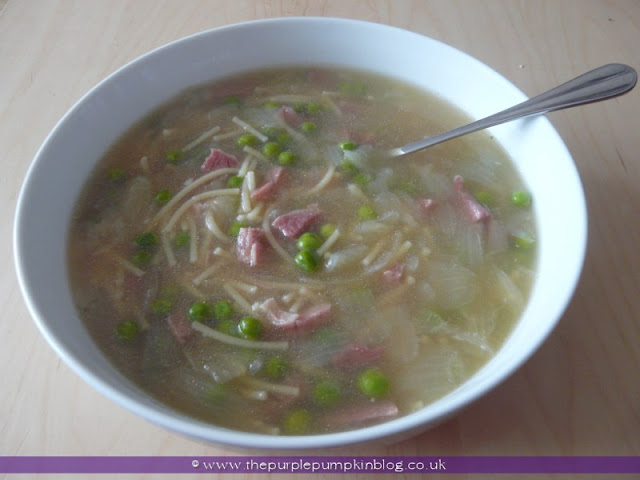 Pea & Ham Soup at The Purple Pumpkin Blog