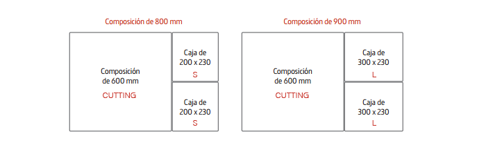 Combinaciones caja madear cajon cocina