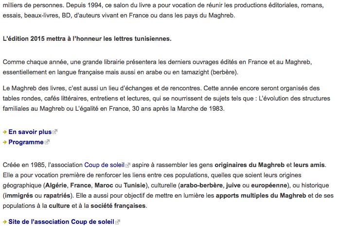 rencontre maghreb de france