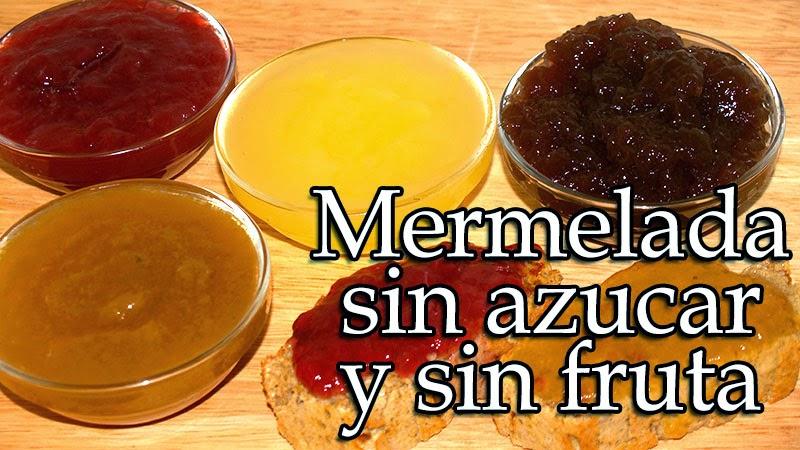 mermelada sin frutas y sin azucar