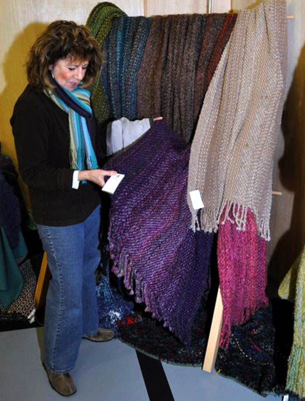 Shopping for a gift at the Saturna Christmas Market