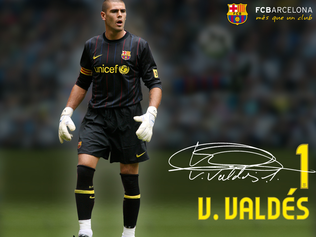 barcelona daily photo Victor Valdes Wallpaper With Signature