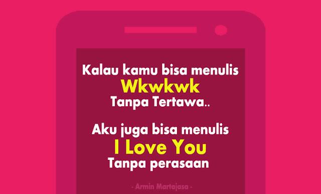 I love you Tanpa Perasaan