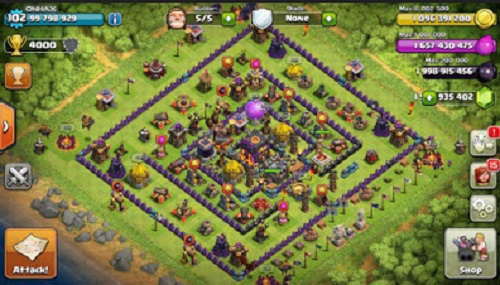 CLASH OF CLANS v8.67.8 MOD APK UNLIMITED GOLD ANDROID
