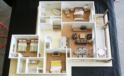 54 Desain Tata Ruang Rumah Dengan 3 Kamar Tidur