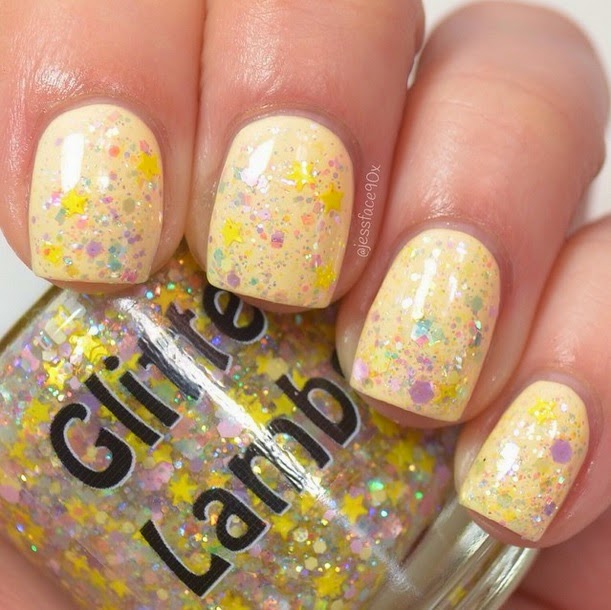"Glitter Lambs ""Golden Honey Foundation""  Glitter Topper Nail Polish  Fashion Makeover Collection"