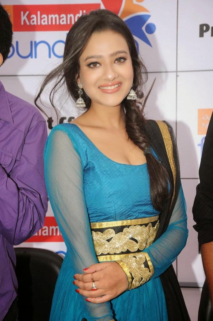 Madalasa Sharma In Blue Salwar Kameez Photos ~ Mallu Masala photos