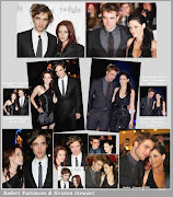 This is a collage from the Twilight Premiere in 2008 and Breaking Dawn Part .