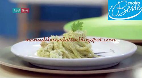 Linguine al pesto di mandorle e scampi ricetta Parodi per Molto Bene