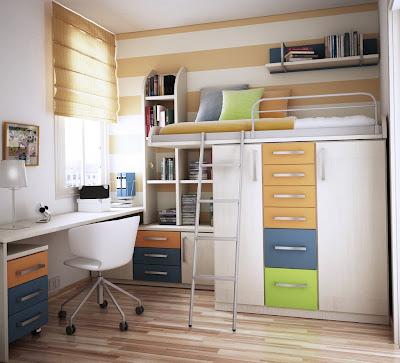 habitación para adolescente muy pequeña