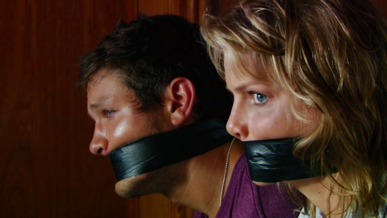Bound and gagged guy gets his cock sucked 9