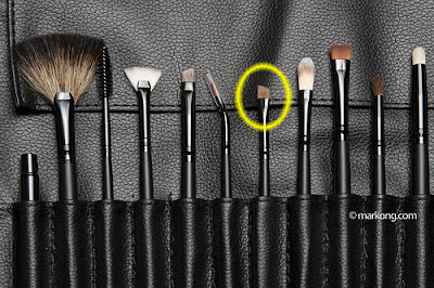 Angled Liner Brush from Charm Pro Makeup Brush Set