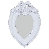 espelho provençal, espelho coração, espelho romântico, espelho para hall, espelho para lavabo