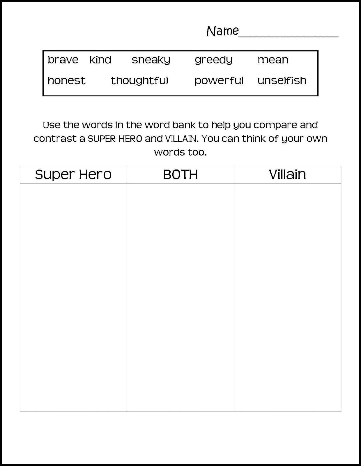 heroes essay super hero writing template