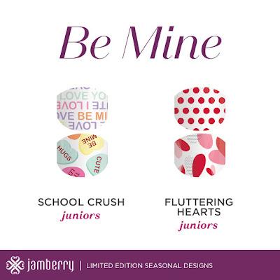 Jamberry, valentine's day, junior wraps, #schoolcrushjn, #flutteringheartsjn