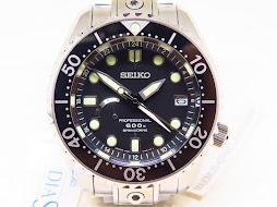 SEIKO PROSPEX PROFESSIONAL 600M DIVER GMT SPRINGDRIVE TITANIUM SBDB011 - BNIB