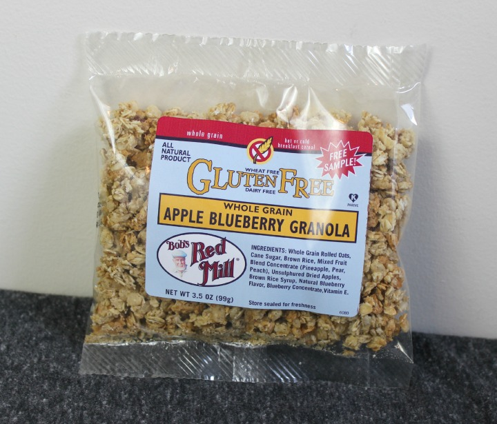Bob's Red Mill Gluten Free Apple Blueberry Granola sample