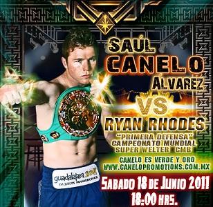 Pelea Saúl Canelo Alvarez vs Ryan Rhodes 18 de Junio 2011