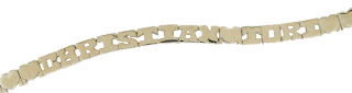 connecting letters family name bracelet
