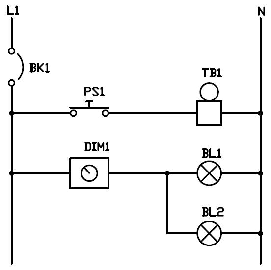 Conexion de timbre y dimmer