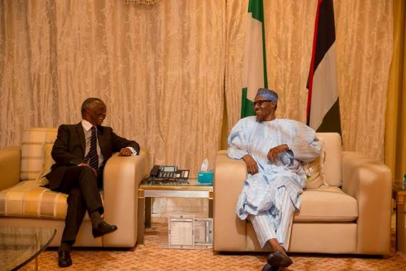 President Buhari and ex south african president Thabo Mbeki in Nigeria