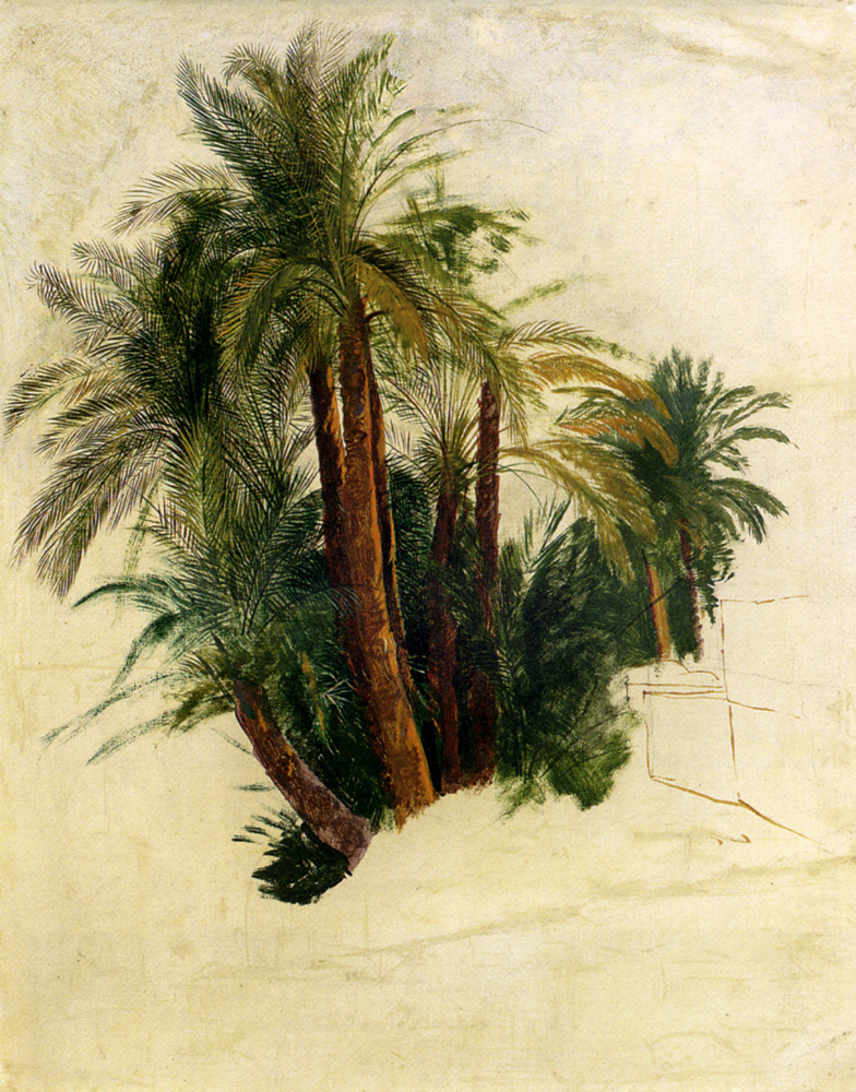 Acravan hooray edward lear bicentenary exhibition in for Painting palm trees