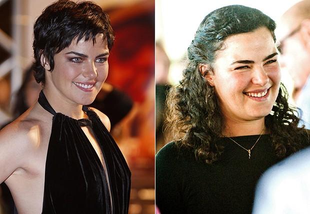 Ana Paula Arósio em 2010 e atualmente: mais cheinha (Foto: Ag News/ Marcelo Montenegro Lapola)