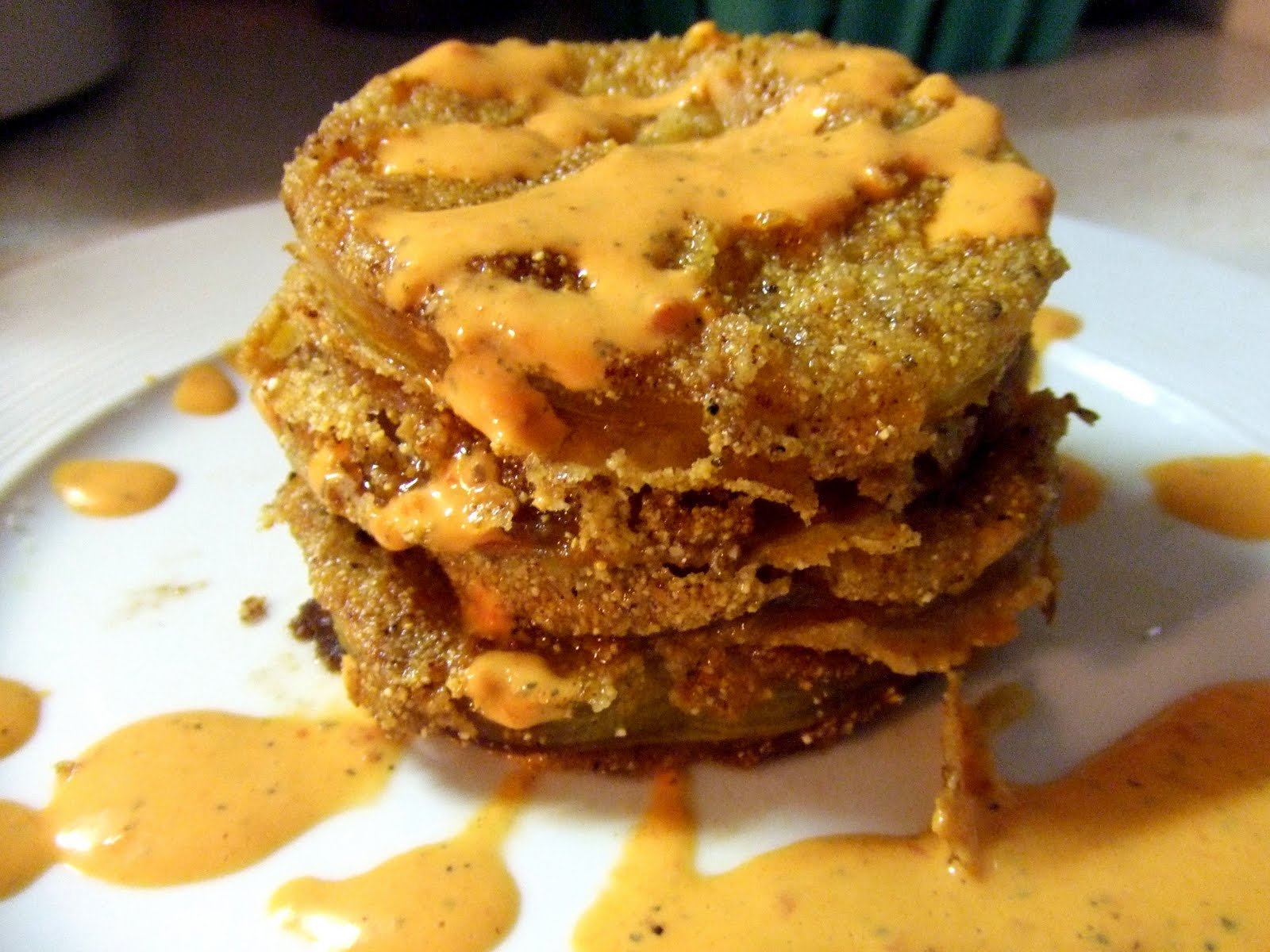 ... Vegan Makeover: Fried Green Tomatoes with Red Pepper Aioli Edition