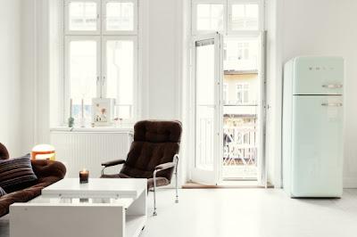 Colori pastello in un appartamento svedese