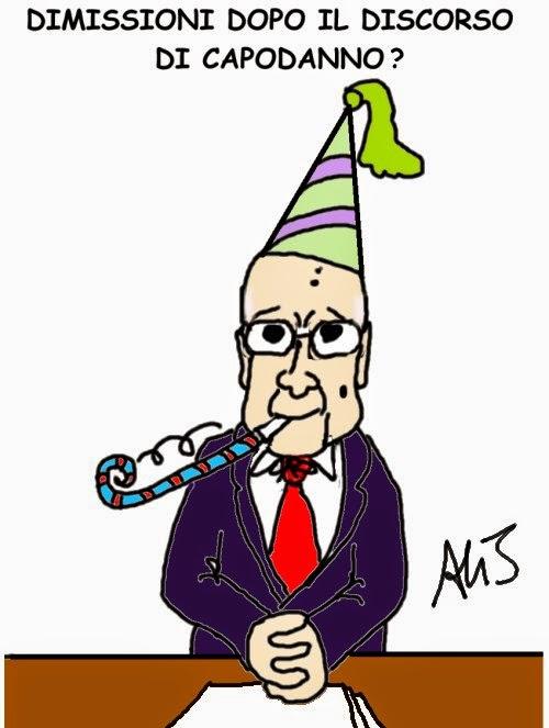 Napolitano, dimissioni, satira