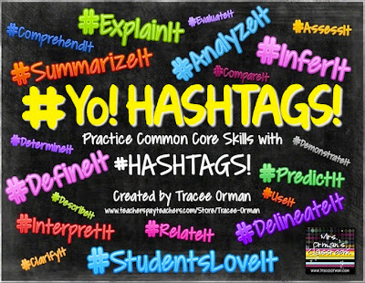 Common Core #Hashtags Activity - Great for Vocabulary & Reading Practice!