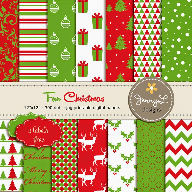 https://www.etsy.com/listing/211827817/christmas-digital-paper-red-and-green?