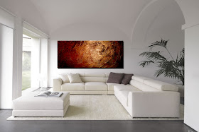 "Abstract Painting ""Bronze Beauty"" by Dora Woodrum"