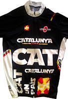 Mallot de ciclisme Catalunya de teixit de qualitat i increible disseny