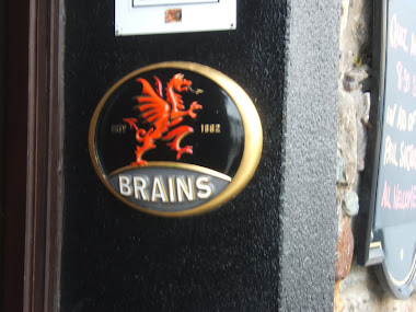 wales uk pub sign