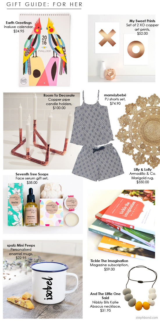 Bondville Bondville Christmas Gift Guide 2015 For Her