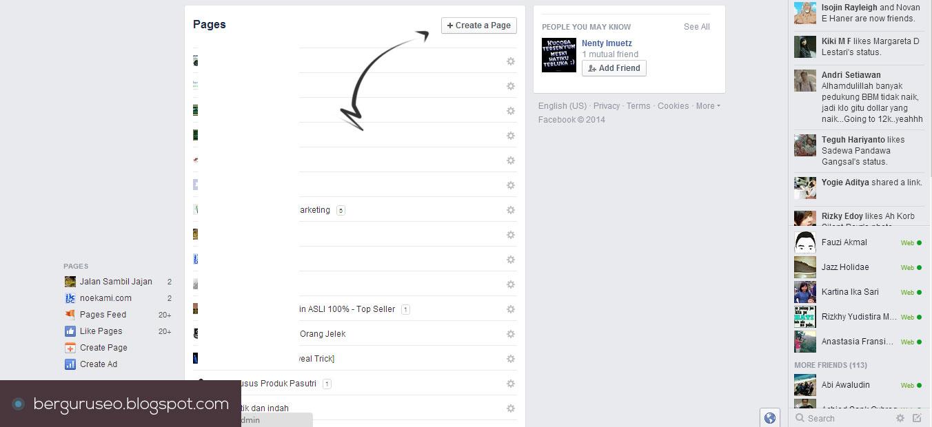 Ke halaman baru untuk memilih jenis fanspage yang akan anda buat
