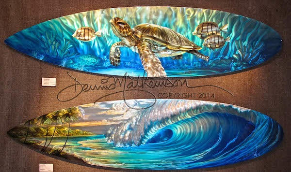 Surfboard Wall Art dennis mathewson art and events blog: maui metal artworkdennis