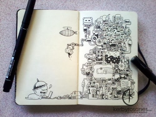 10-Technology-Filippino-Artist-and-Illustrator-Kerby-Rosanes-Pen-Doodles-www-designstack-co