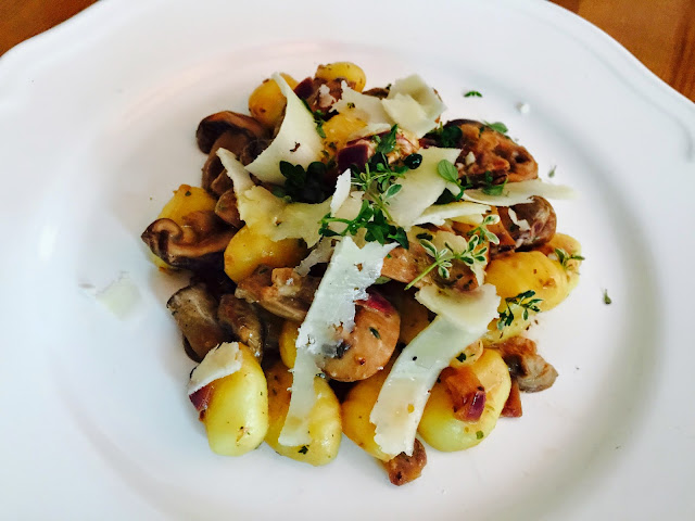 Mushroom and thyme gnocchi