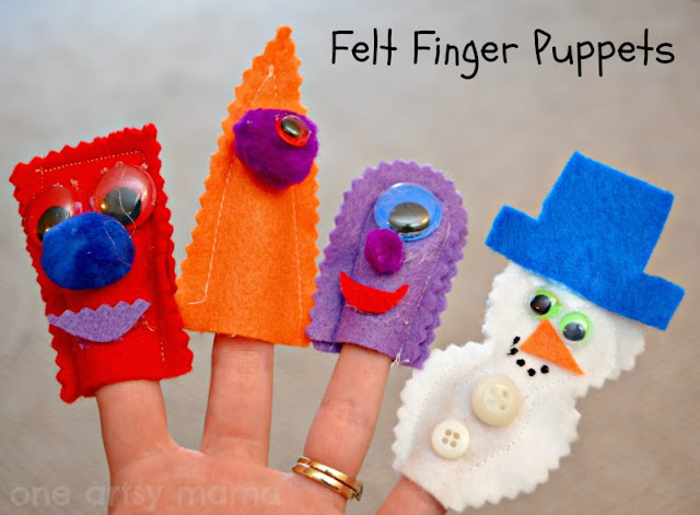 Felt Finger Puppets  {One Artsy Mama}