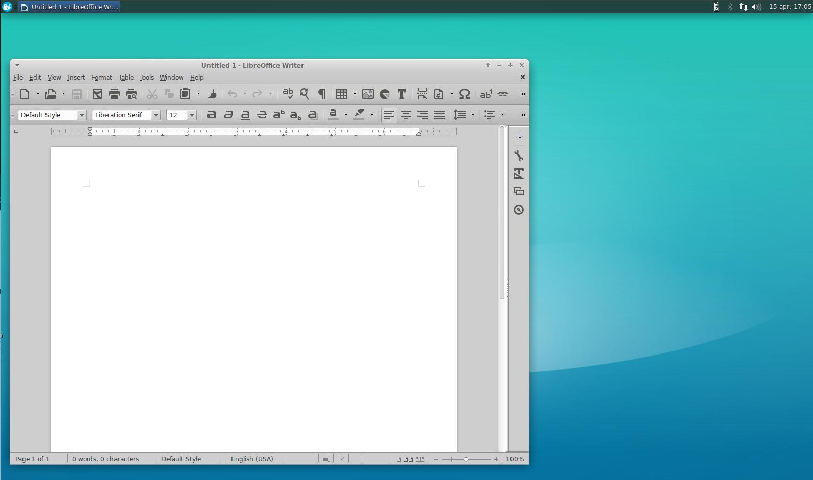 LibreOffice Xubuntu